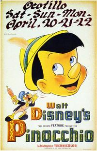 Pinocchio - 11 x 17 Movie Poster - Style E