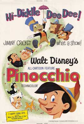 Pinocchio - 27 x 40 Movie Poster - Style A