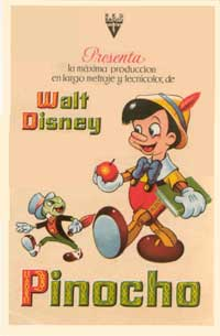 Pinocchio - 11 x 17 Movie Poster - Spanish Style A