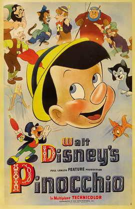 Pinocchio - 11 x 17 Movie Poster - Style M