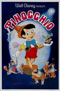 Pinocchio - 27 x 40 Movie Poster - Style H