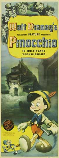 Pinocchio - 14 x 36 Movie Poster - Insert Style A