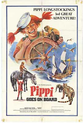 Pippi Goes on Board - 27 x 40 Movie Poster - Style A