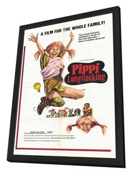 Pippi Longstocking - 27 x 40 Movie Poster - Style A - in Deluxe Wood Frame