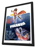 Piranha - 27 x 40 Movie Poster - Style A - in Deluxe Wood Frame