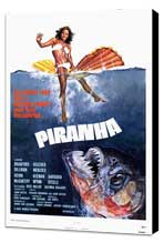 Piranha - 27 x 40 Movie Poster - Style A - Museum Wrapped Canvas