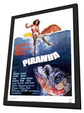 Piranha - 11 x 17 Movie Poster - Style A - in Deluxe Wood Frame