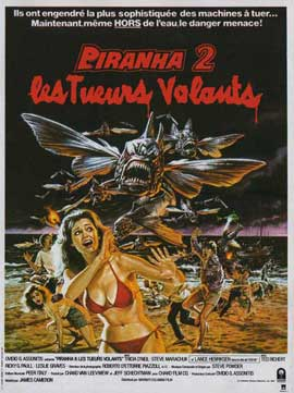 Piranha Part Two: The Spawning - 11 x 17 Movie Poster - French Style A