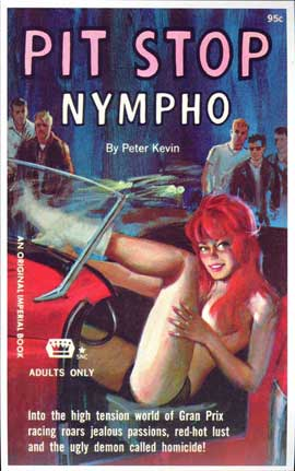Pit Stop Nympho - 11 x 17 Retro Book Cover Poster