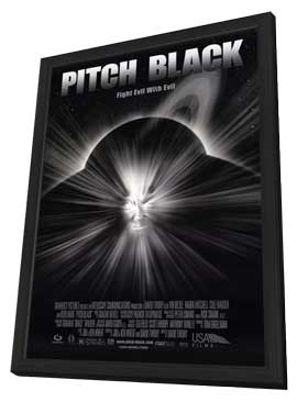 Pitch Black - 27 x 40 Movie Poster - Style A - in Deluxe Wood Frame