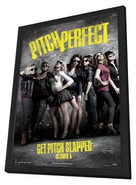 Pitch Perfect - 11 x 17 Movie Poster - Style B - in Deluxe Wood Frame