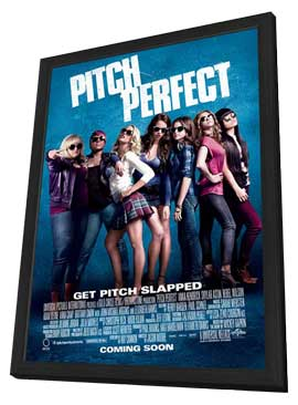 Pitch Perfect - 11 x 17 Movie Poster - Style A - in Deluxe Wood Frame