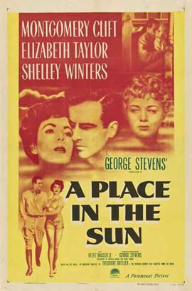 A Place in the Sun - 11 x 17 Movie Poster - Style A
