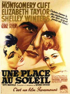 A Place in the Sun - 11 x 17 Movie Poster - French Style A