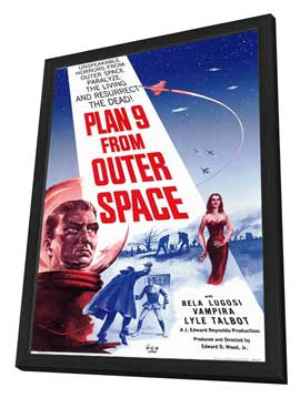Plan 9 from Outer Space - 11 x 17 Movie Poster - Style A - in Deluxe Wood Frame
