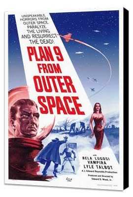 Plan 9 from Outer Space - 27 x 40 Movie Poster - Style A - Museum Wrapped Canvas