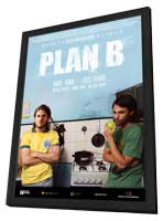 Plan B - 11 x 17 Movie Poster - German Style A - in Deluxe Wood Frame
