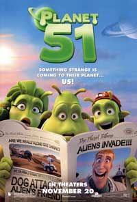 Planet 51 - 43 x 62 Movie Poster - Bus Shelter Style B