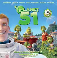 Planet 51 - 30 x 30 Movie Poster - Danish Style A