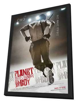 Planet B-Boy - 27 x 40 Movie Poster - Korean Style A - in Deluxe Wood Frame