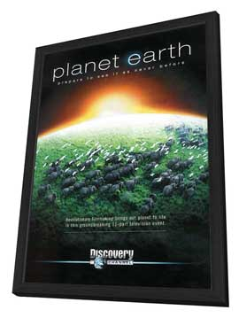 Planet Earth - 27 x 40 TV Poster - Style A - in Deluxe Wood Frame