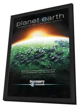 Planet Earth - 11 x 17 TV Poster - Style A - in Deluxe Wood Frame