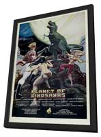 Planet of Dinosaurs - 11 x 17 Movie Poster - Style A - in Deluxe Wood Frame
