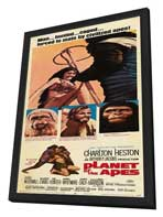 Planet of the Apes - 14 x 36 Movie Poster - Insert Style A - in Deluxe Wood Frame