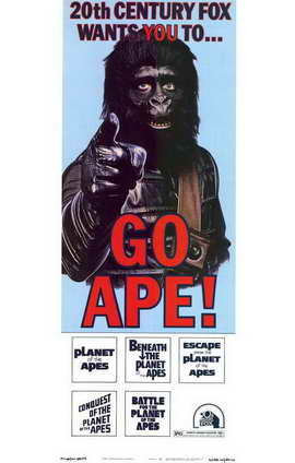Planet of the Apes - 11 x 17 Movie Poster - Style B
