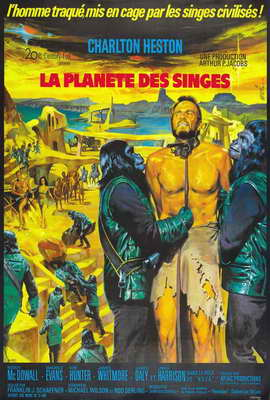 Planet of the Apes - 27 x 40 Movie Poster - French Style A