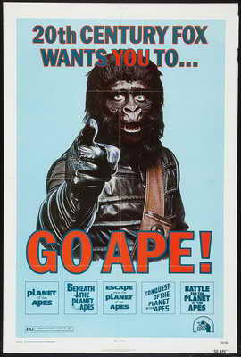 Planet of the Apes - 27 x 40 Movie Poster - Style E