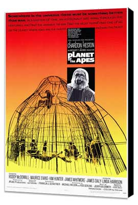Planet of the Apes - 11 x 17 Movie Poster - Style A - Museum Wrapped Canvas