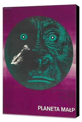 Planet of the Apes - 27 x 40 Movie Poster - Polish Style A - Museum Wrapped Canvas