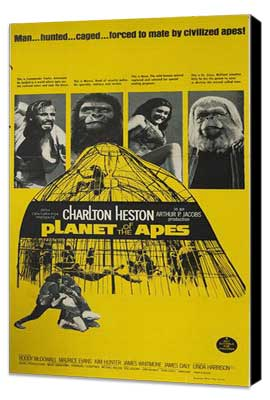 Planet of the Apes - 27 x 40 Movie Poster - Style C - Museum Wrapped Canvas