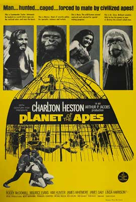 Planet of the Apes - 27 x 40 Movie Poster - Style G