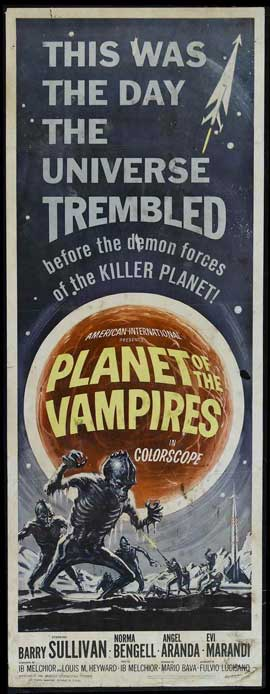 Planet of the Vampires - 14 x 36 Movie Poster - Insert Style A