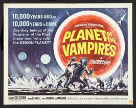 Planet of the Vampires - 22 x 28 Movie Poster - Half Sheet Style A