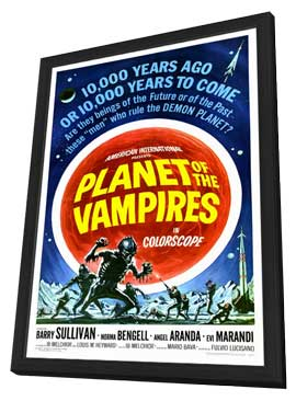Planet of the Vampires - 27 x 40 Movie Poster - Style A - in Deluxe Wood Frame