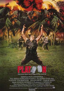 Platoon - 11 x 17 Movie Poster - German Style A