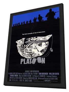 Platoon - 27 x 40 Movie Poster - Style A - in Deluxe Wood Frame