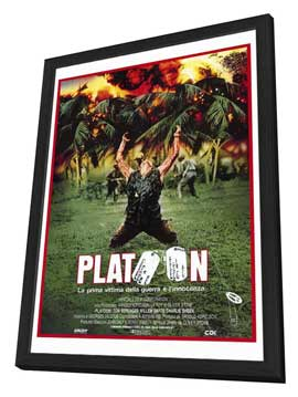 Platoon - 27 x 40 Movie Poster - Italian Style A - in Deluxe Wood Frame