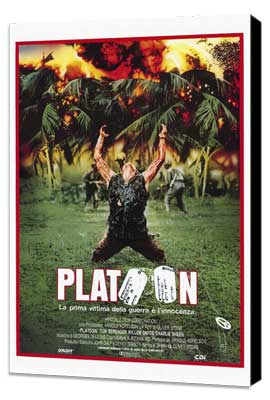 Platoon - 27 x 40 Movie Poster - Italian Style A - Museum Wrapped Canvas