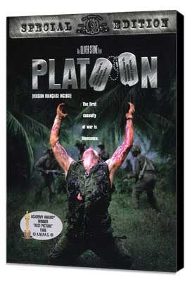 Platoon - 27 x 40 Movie Poster - Style F - Museum Wrapped Canvas