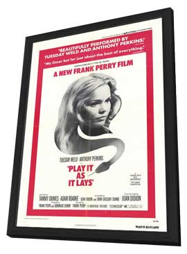 Play It As It Lays - 27 x 40 Movie Poster - Style A - in Deluxe Wood Frame