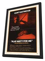 Play Misty for Me - 27 x 40 Movie Poster - Style A - in Deluxe Wood Frame