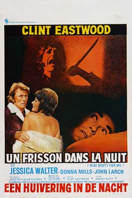 Play Misty for Me - 27 x 40 Movie Poster - Belgian Style A