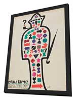 Playtime - 27 x 40 Movie Poster - Polish Style A - in Deluxe Wood Frame