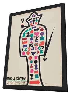 Playtime - 11 x 17 Movie Poster - Polish Style A - in Deluxe Wood Frame