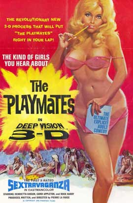 Playmates in Deep Vision 3-D - 11 x 17 Movie Poster - Style A