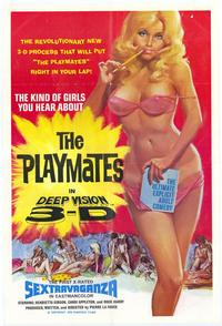 Playmates in Deep Vision 3-D - 43 x 62 Movie Poster - Bus Shelter Style A
